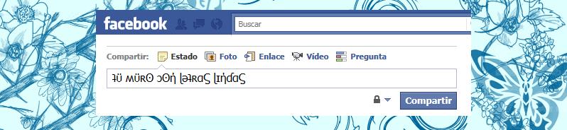 Muro de Facebook con letras Lindas